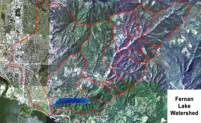 Fernan Lake Watershed Polylines