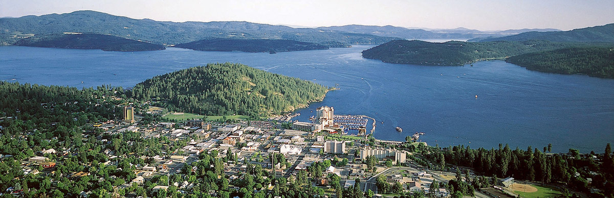 Aerial view of CdA [source: Visit Idaho]