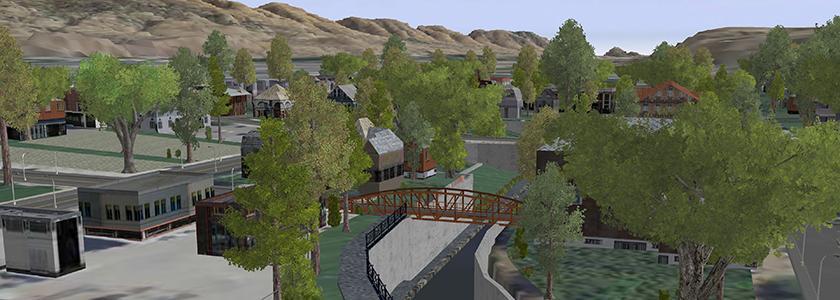 Downtown Pocatello virtualization in CityEngine - by Meg Tracy